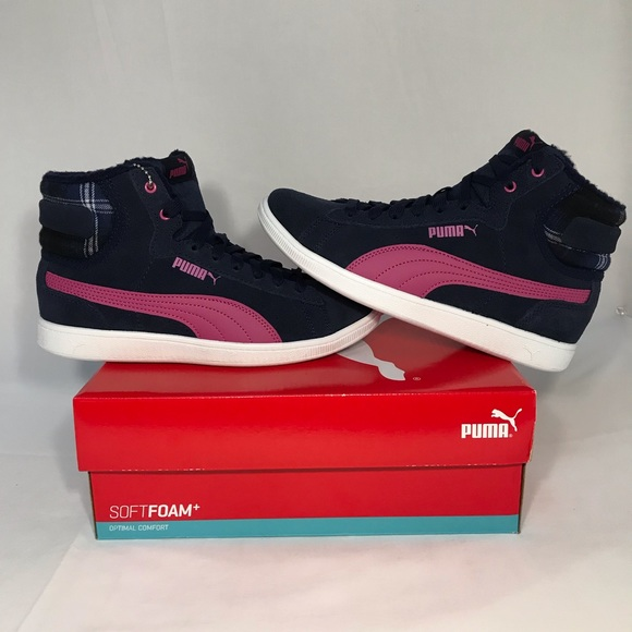 b19704bb0220 PUMA Vikky Mid Top WTR Magenta Shoes Sneaker Boot